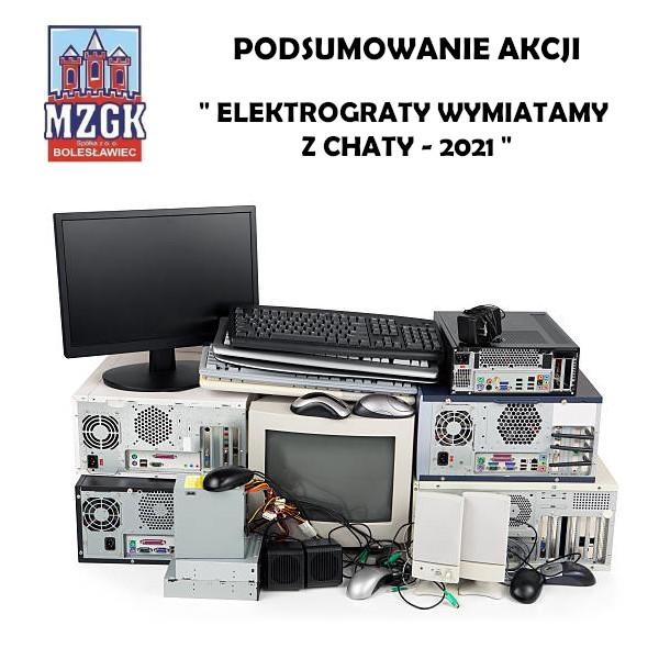 """Podsumowanie akcji """"Elektrograty wymiatamy z chaty - 2021"""""""